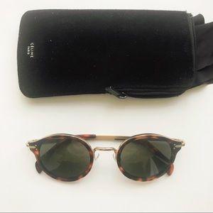 $550 Celine Lea Round mod sunglasses authentic